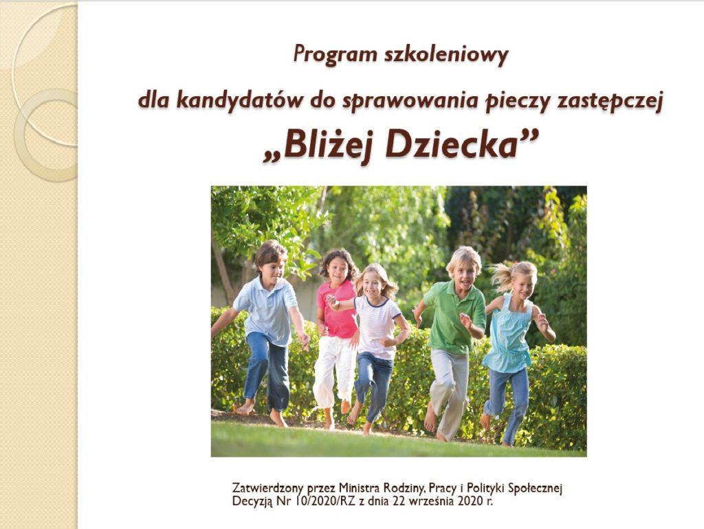 Zatwierdzony przez Ministra Rodziny, Pracy i Polityki Społecznej Decyzją Nr 10/2020/RZ z dnia 22 września 2020 r.